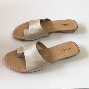 Vaneli Tallis Leather Toe Loop Slides